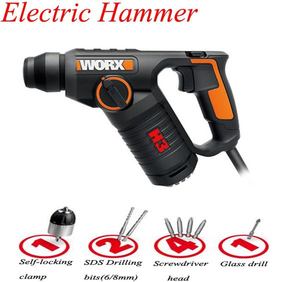 Multi Function Electric Hammer Drill Wall Concrete Impact Drill 3 In 1 Ac Electric Rotary Hammer With Free Drill Bits Wx346 Electric Hammer Drill Hammer Drill