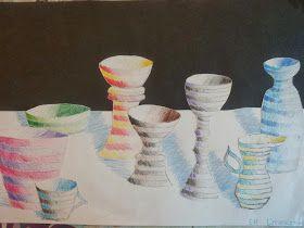 Bidt af billedkunst!: Graduerede vaser, skåle med mere....i lys og skygge