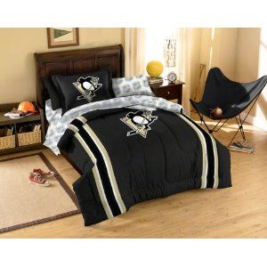 NHL Pittsburgh Penguins 5-Piece Twin Size Bedding Set