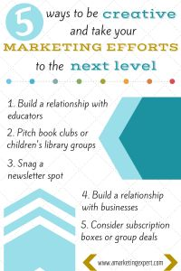 5 Creative Ways to Market Your Book from Penny Sansivieri