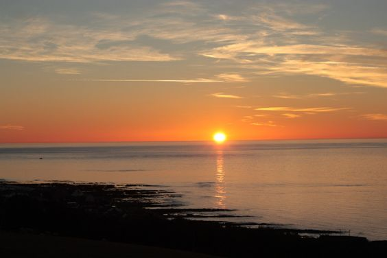 Sunrise in Johnshaven, Scotland; United Kingdom, travel, seaside view