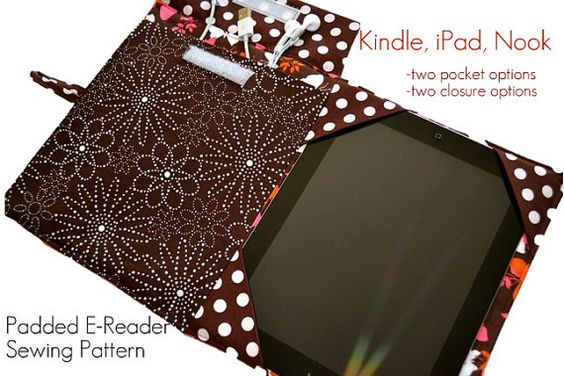 EReader Cover Pattern PDF sewing pattern iPad by pinkpoodlebows