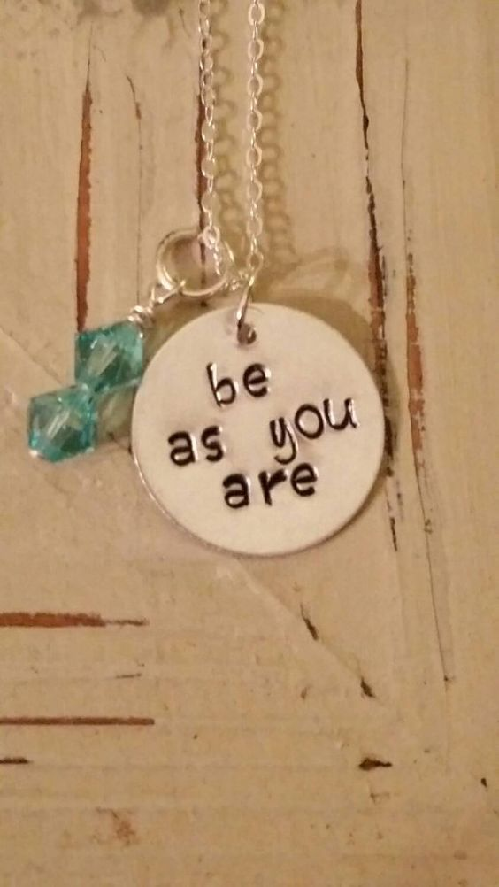 Handstamped be as you are Kenny Chesney Inspired by SeaLifeSparkle: