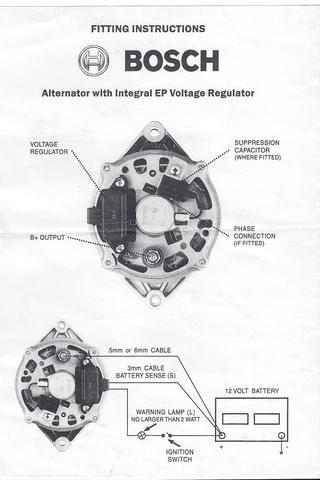 Bosch Internal Regulator Alternator Wiring Diagram Oldholden Com Alternator Bosch Diagram