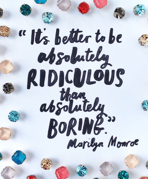 be ridiculous.