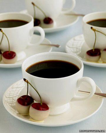 Café et Cerise Chocolat Blanc... bonne idée!