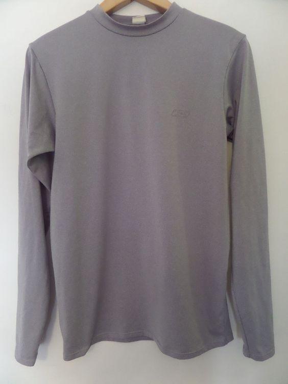 REEBOK Men's T-Shirts Size-L Gray Very Good!  #Reebok #BasicTee