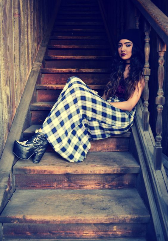 90s Grunge Maxi Dress In With The Plaid Pinterest Maxis Grunge And 90s Grunge