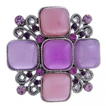 #99542 Jewel Floral Brooch Pin-Hot Pink