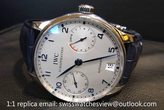 IWC Portuguese 7 Day Power Reserve blue Watch IW500107