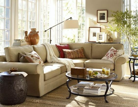 Living Rooms Pottery Barn And Pottery On Pinterest