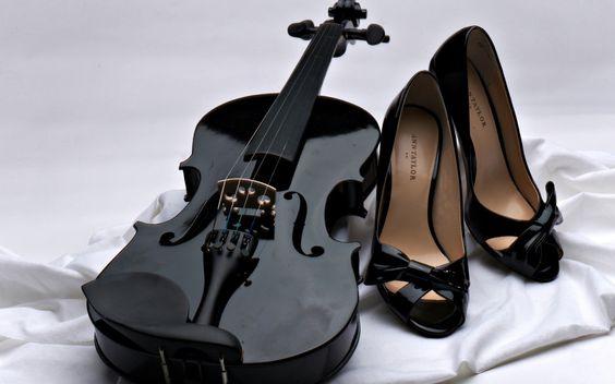 Black Violin And Black High Heels