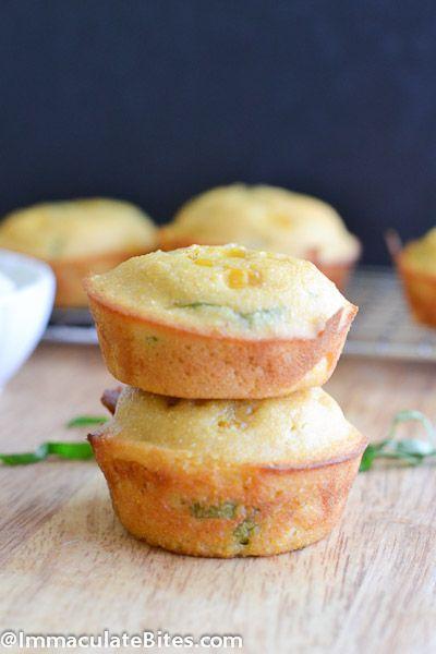 Cornbread muffins, Cornbread and Basil on Pinterest