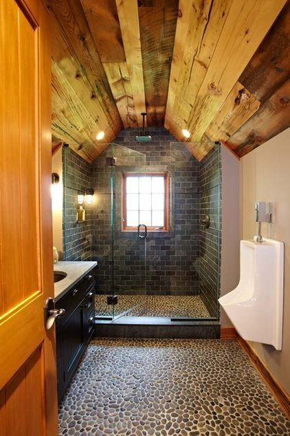 Man Cave Toilet : Man cave garage bathroom traditional by tr