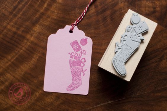 Stempel Christmas Stocking / tinytinadesigns