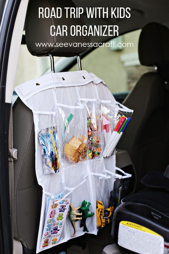 Road Trip Hack: Shoe Holder Turned Car Organizer #RoadTripHacks #Safeway #ad