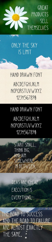 Hand Drawn Font. Fonts. $12.00