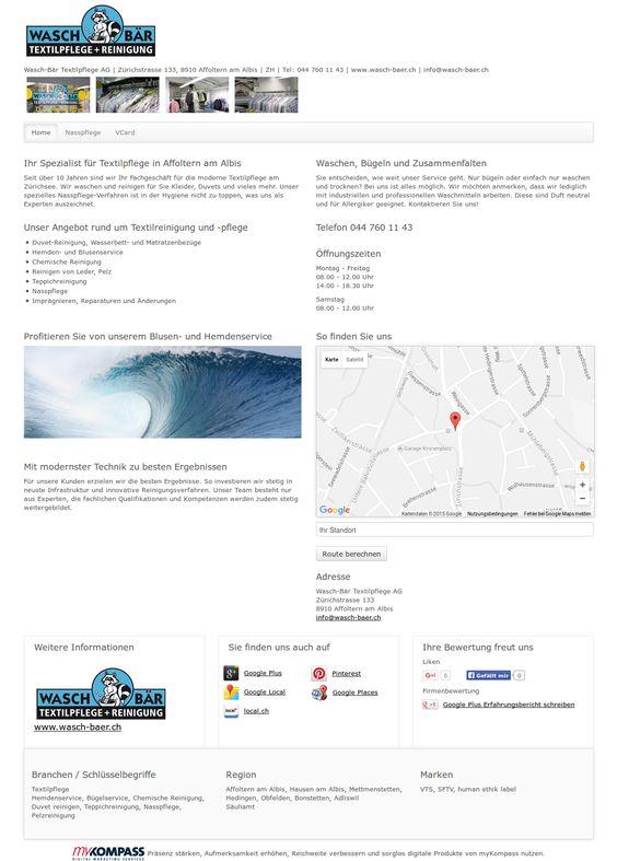 Wasch-Bär Textilpflege AG, Affoltern am Albis, Hemdenservice, Bügelservice, Chemische Reinigung
