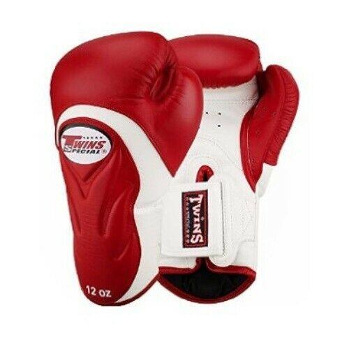 Twins Special Muay Thai Boxing Gloves BGVL6 10 12 14 16 oz Black White Red Blue