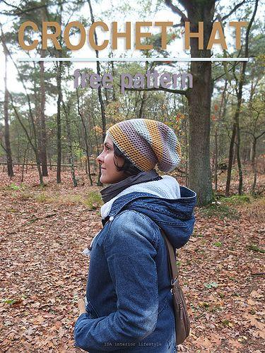 Free pattern: crochet hat by IDA Interior LifeStyle, via Flickr