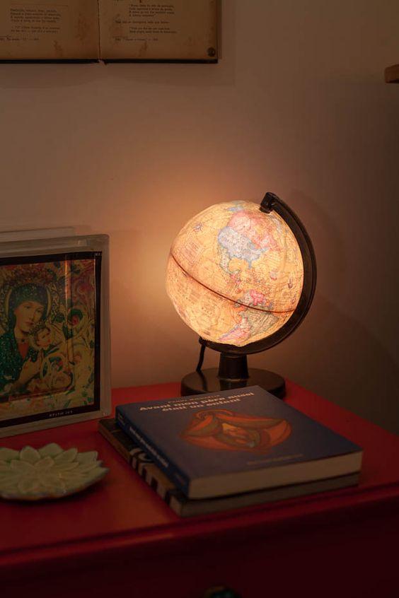 Casa de Colorir  Luminaria globo rendando