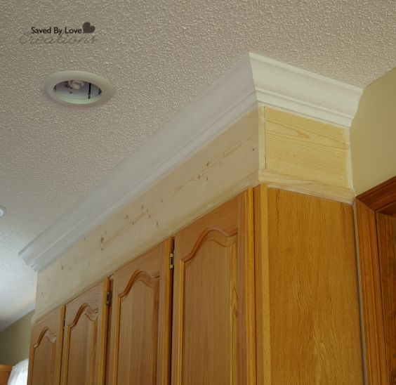 Kitchen Cabinet Moulding: Cabinets To Ceiling, Crowns And Cabinets On Pinterest