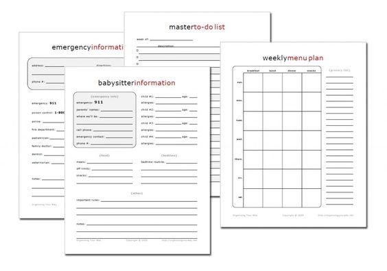 home-management-printables
