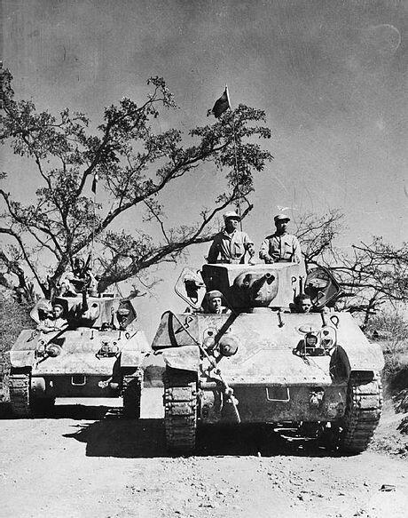 Chinese Stuart tanks on theLedo Road.