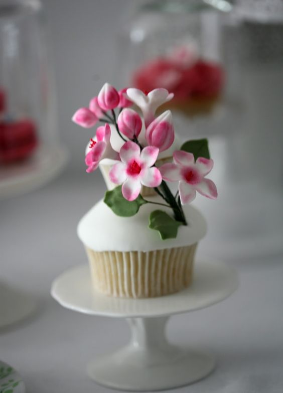 Beautiful Cupcake Images : Spring Time Themed Table with Beautiful Birds and Floral ...