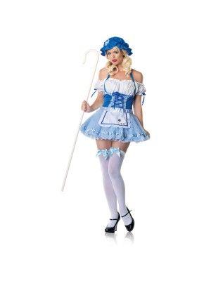 Seductive Blue Skirt Maid Girl Costume Set