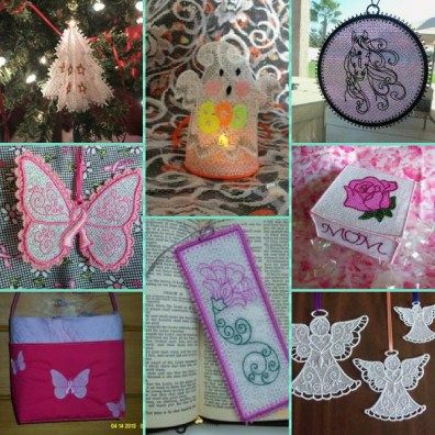 Step by Step how to for Free Standing Lace (FSL) with Mylar