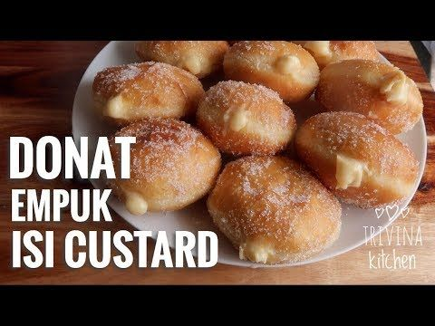 Donat Bomboloni Donat Empuk Isi Custard Asal Italia Custard Cream Filled Donuts Youtube Filled Donuts Cream Filled Donuts Food
