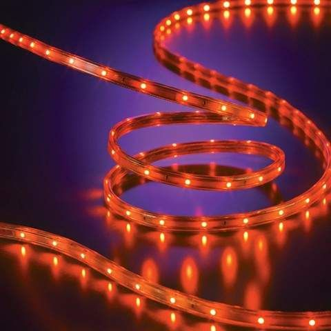 135ct Halloween Led Flat Rope Lights Orange Cost Paying Lights Rope Lights Light Orange Halloween Decorations Indoor