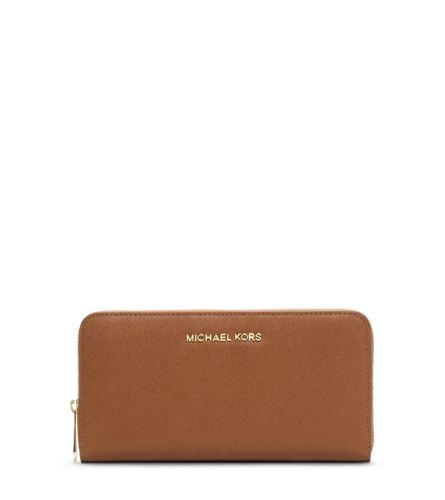 Jet Set Travel Saffiano Leather Continental Wallet | Michael Kors