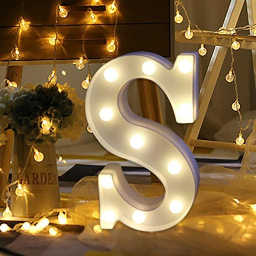Light Up Letters Smytshop Warm White Led Letter Light Up Alphabet Letter Lights For Festival Decorative Light Letters Lighted Marquee Letters Light Up Letters