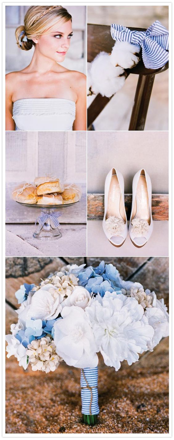 Adore the hairstyle and the cotton with the seersucker! southern weddings magazine: Blue Hydrangea, White Wedding, Wedding Ideas, Southern Weddings, Dream Wedding, Blue Wedding, Blue And White