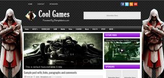 Cool Games Blogger Template