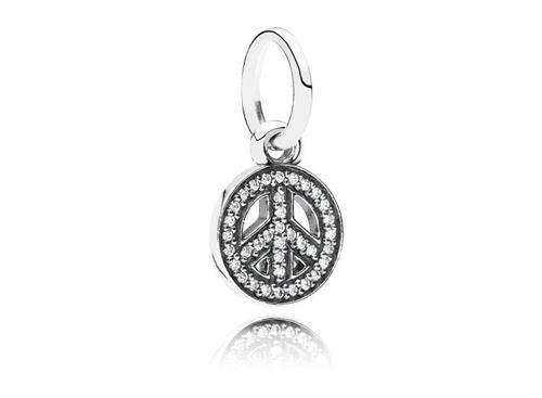 Charm de Prata Símbolo da Paz&Amor