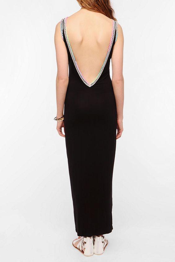 Pitusa Backless Maxi Lounge Dress  #UrbanOutfitters