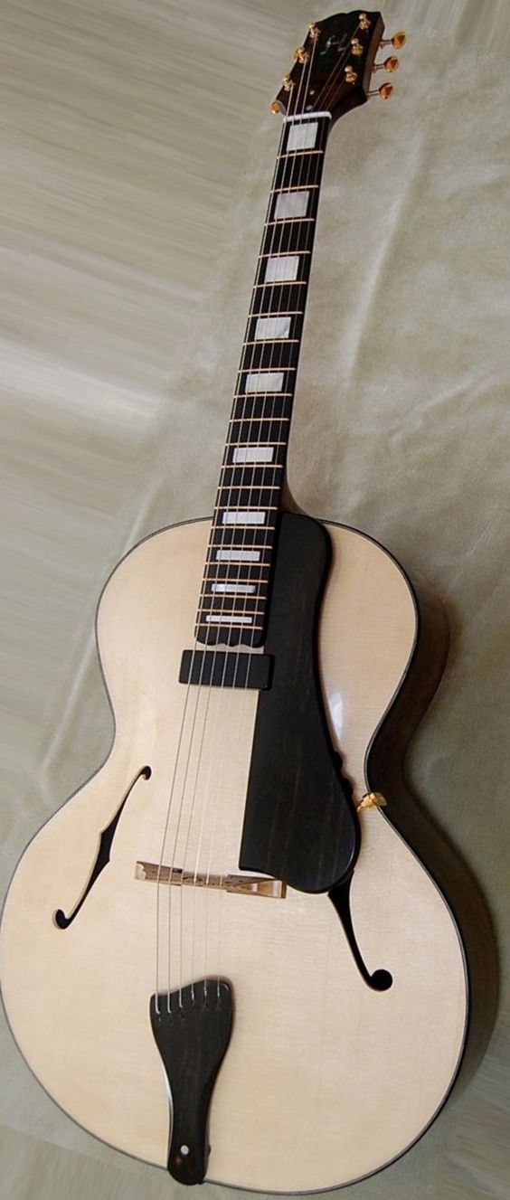 J Luke Heaton~Wittlestick archtop Guitar  --- https://www.pinterest.com/lardyfatboy/
