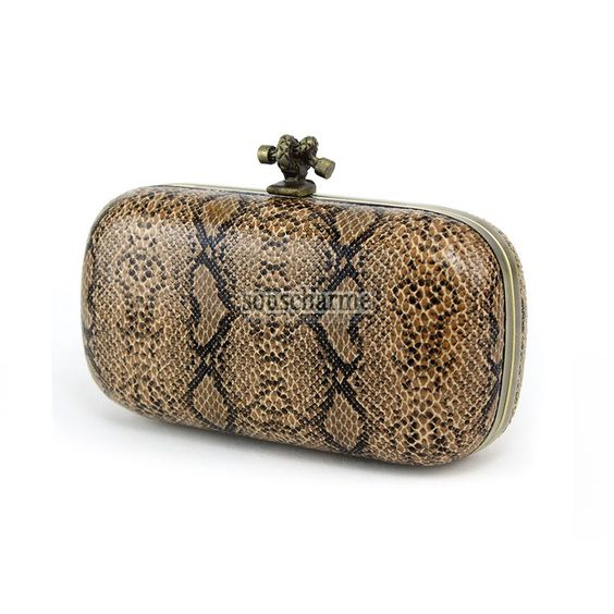 Pochette soir e chic pas cher en simili cuir peau serpent sac main vintage - Simili cuir pas cher ...
