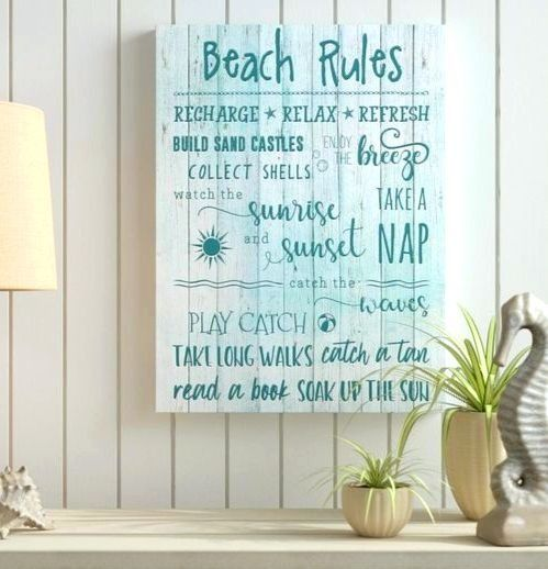 Beach Rules For Wall Decor Beach Rules Beach Signs Coastal Beach Decor