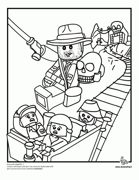 Lego Indiana Jones Coloring Pages  Faceboulcom