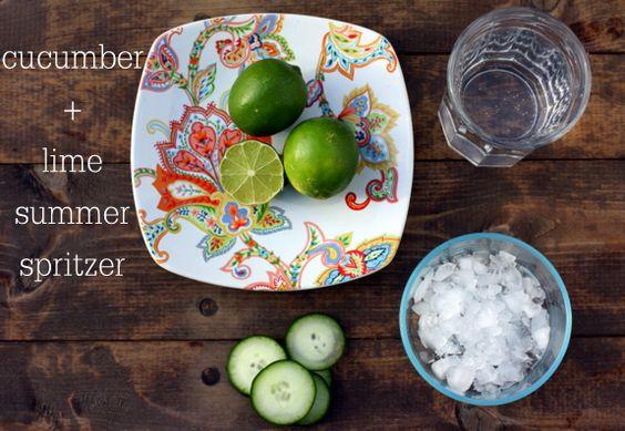 Cucumber lime spritzer drink - Petite Elephant