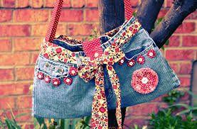 Картинки по запросу bolsas feitas com jeans