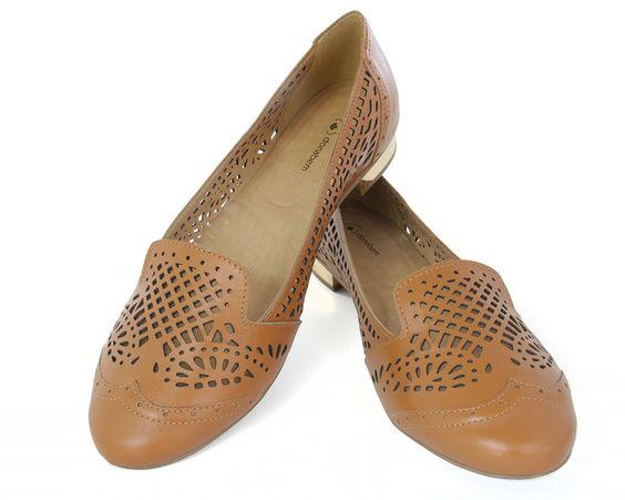 Sapatilha Recortada Caramelo | Donabem Shoes - Calçados Femininos Tamanhos Grandes
