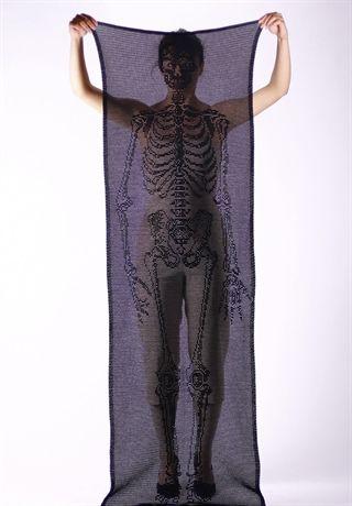 // crocheted cotton-silk scarf, handmade in england