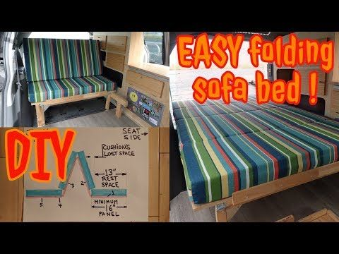 32 Van Conversion Bed Folding Sofa Bed Design Diy And Easy Youtube Sofa Bed Design Folding Sofa Bed Folding Sofa