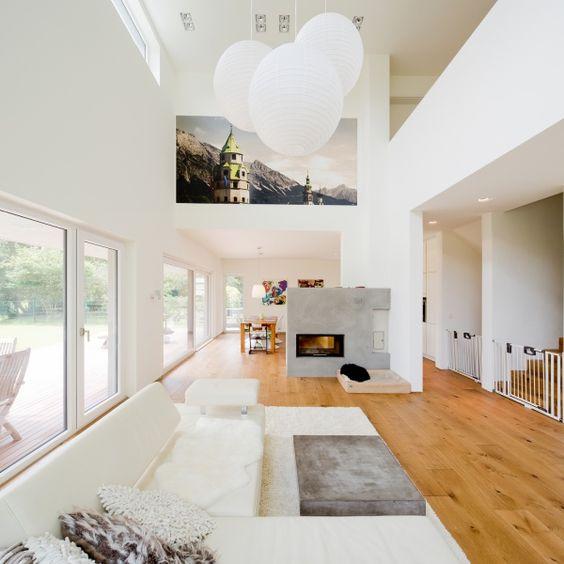 Wohnzimmer und Kamin moderne wohnzimmer mit galerie : Pinterest • The world's catalog of ideas