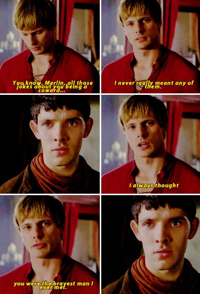 This part broke my heart!! I wish Merlin could've told Arthur about his magic right here.